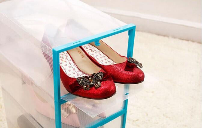 Combo 2 Hộp Đựng Giày Dép Có Ngăn Kéo Viền Đẹp Cứng Trong Suốt