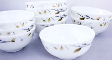Bộ 10 Chén Opal Glassware Cao Cấp Cho Gia Đình