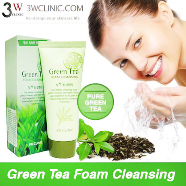 Sữa rửa mặt Green Tea Foam Cleansing Hàn Quốc